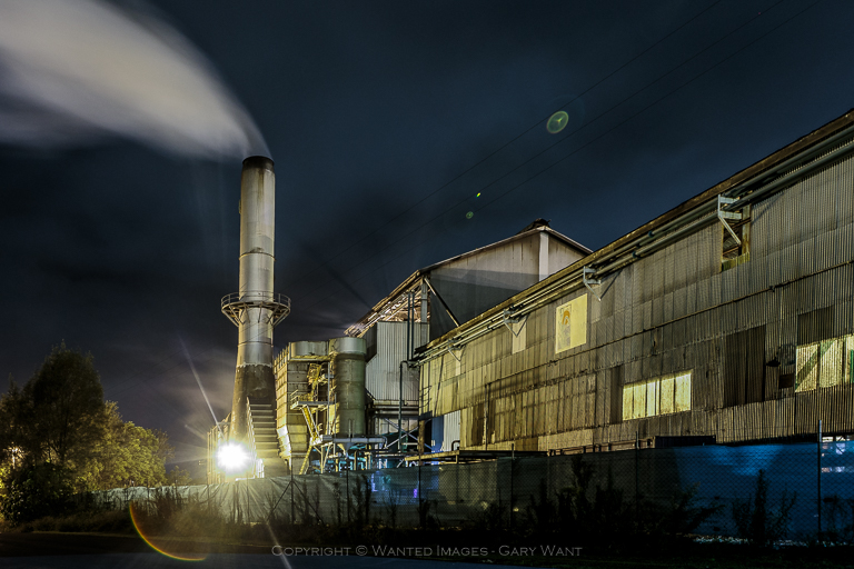 Bundaberg Rum brewery by night